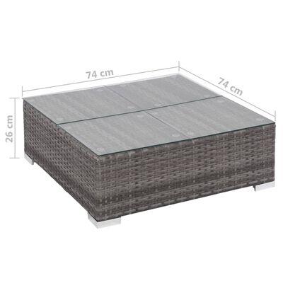 vidaXL 6-dielna záhradná sedacia súprava s vankúšmi sivá polyratanová
