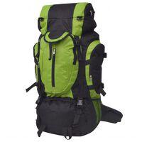 vidaXL Turistický batoh XXL ,75 l, čierny a zelený