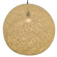 vidaXL Závesná lampa krémová 55 cm okrúhla E27