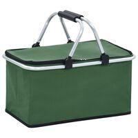 vidaXL Chladiaca studená taška zelená 46x27x23 cm hliník