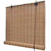Hnedá roleta z prírodného bambusu 120 x 160 cm