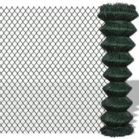 vidaXL Drôtené pletivo, oceľ 1,5x25 m, zelené