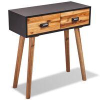 vidaXL Konzolový stolík, akáciový masív 70x30x75 cm