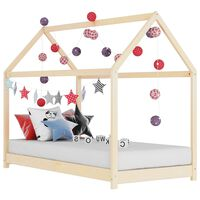 vidaXL Detský posteľný rám 80x160 cm borovicový masív