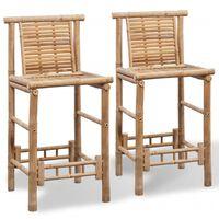 vidaXL Barové stoličky 2 ks, bambus