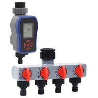 vidaXL Digitálny časovač zavlažovania s jedným výstupom a rozdeľovačom vody