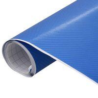 vidaXL Fólia na automobily matná 4D modrá 500x152 cm