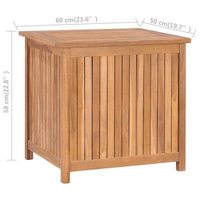 vidaXL Záhradný úložný box 60x50x58 cm masívne teakové drevo