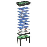 vidaXL 15 v 1 multifunkčný herný stôl čierny 121x61x82 cm