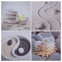 vidaXL Sada nástenných obrazov na plátne Pláž rôznofarebná 80x80 cm