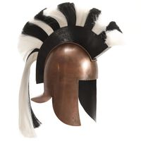 vidaXL Grécka antická prilba pre LARP starožitná replika medená oceľ