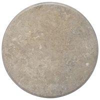 vidaXL Stolová doska sivá Ø70x2,5 cm mramor