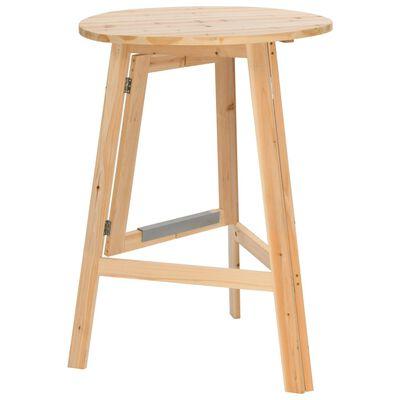 vidaXL Skladací barový stôl 78 cm, jedľové drevo