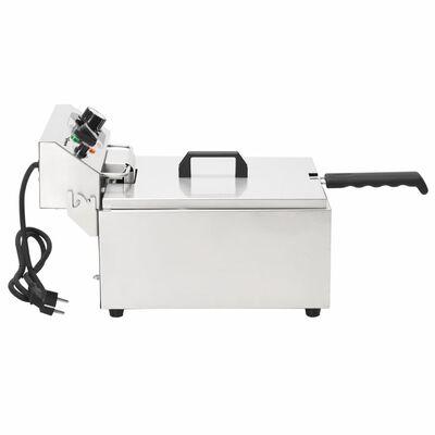 vidaXL Elektrická fritéza z nehrdzavejúcej ocele, 10 L 3000 W