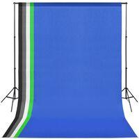 vidaXL Fotografická súprava s 5 farebnými pozadiami a nastaviteľným rámom