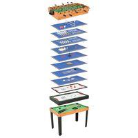 vidaXL 15 v 1 multifunkčný herný stôl javorová farba 121x61x82 cm