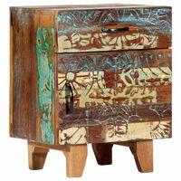 vidaXL Ručne vyrezávaný nočný stolík 40x30x50 cm, recyklovaný masív