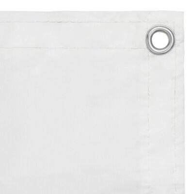 vidaXL Balkónová markíza, biela 90x300 cm, oxfordská látka