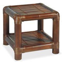 vidaXL Nočný stolík, 40x40x40 cm, bambus, tmavohnedý