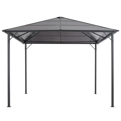 vidaXL Altánok so strechou, hliník 3x3 m, čierny