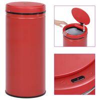 vidaXL Automatický odpadkový kôš, senzor 80 l, uhlíková oceľ, červený