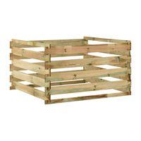 vidaXL Latkový záhradný kompostér 120x120x70 cm impregnované borovicové drevo