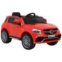 vidaXL Detské autíčko Mercedes Benz GLE63S červené plastové