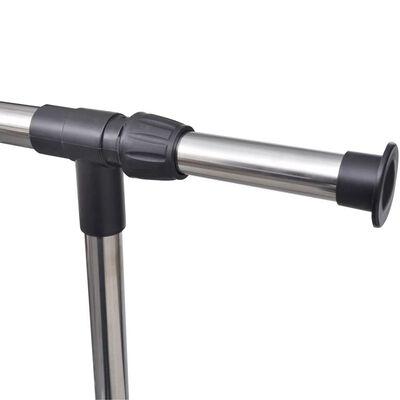vidaXL Nastaviteľný vešiak na oblečenie 4 kolieska 1 závesná koľajnica