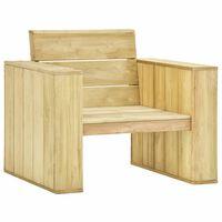 vidaXL Záhradná stolička 89x76x76 cm, impregnovaná borovica