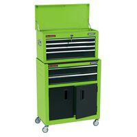 Draper Tools Skrinka a truhlica na náradie na kolieskach 61,6x33x99,8 cm zelená