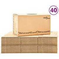 vidaXL Kartónové krabice na sťahovanie XXL 40 ks 60x33x34 cm
