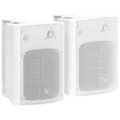 vidaXL Nástenné stereo reproduktory do interiéru a exteriéru 2 ks biele 120 W