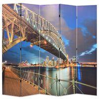 vidaXL Skladací paraván, 200x170 cm potlač s mostom v Sydney