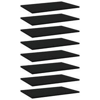 vidaXL Prídavné police 8 ks, čierne 60x40x1,5 cm, drevotrieska