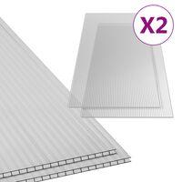 vidaXL Polykarbonátová doska 2 ks 10 mm 150x65 cm