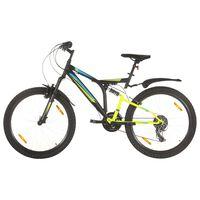 """vidaXL Horský bicykel 21 rýchlostí 26"""" koleso 49 cm rám čierny"""