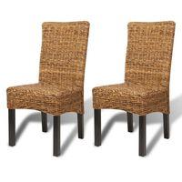 vidaXL Jedálenské stoličky 2 ks, abaka a mangový masív