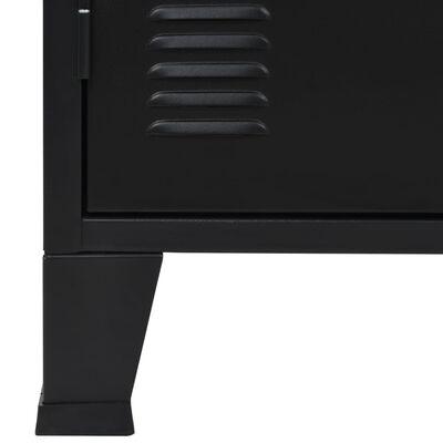 vidaXL Komoda, kov, industriálny štýl 120x35x70 cm, čierna