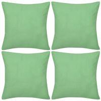 Návliečky na vankúše, 4 ks, bavlna, jablková zelená, 50 x 50 cm