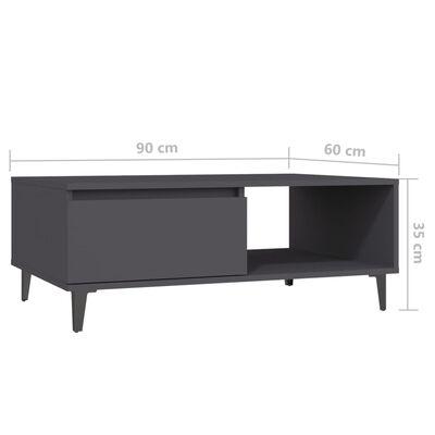 vidaXL Konferenčný stolík sivý 90x60x35 cm drevotrieska