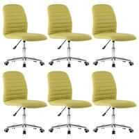 vidaXL Jedálenské stoličky 6 ks, zelené, látka
