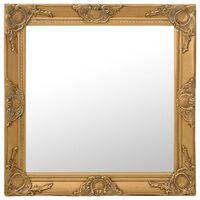 vidaXL Nástenné zrkadlo v barokovom štýle 60x60 cm zlaté