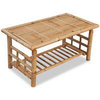 vidaXL Bambusový konferenčný stolík, 90x50x45 cm