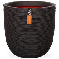 Capi Kvetináč v tvare vajca Nature Rib čierny 54x52 cm KBLR935