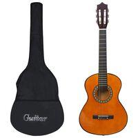 """vidaXL 8-dielna klasická gitarová sada pre deti a začiatočníkov 1/2 34"""""""