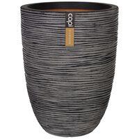 Capi Váza elegantná nízka antracitová 46x58 cm KOFZ782 Nature Rib