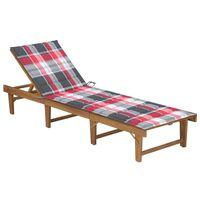 vidaXL Skladacie záhradné ležadlo s podložkou masívne akáciové drevo