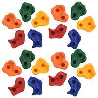 vidaXL Lezecké kamene 20 ks viacfarebné PE