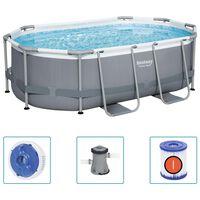 Bestway Nadzemný bazén Power Steel oválny 305x200x84 cm
