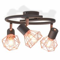 vidaXL Stropné svietidlo s 3 vláknovými LED žiarovkami, 12 W